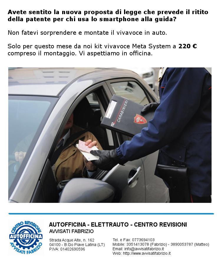 Autofficina Avvisati Fabrizio - promozione kit vivavoce Meta System